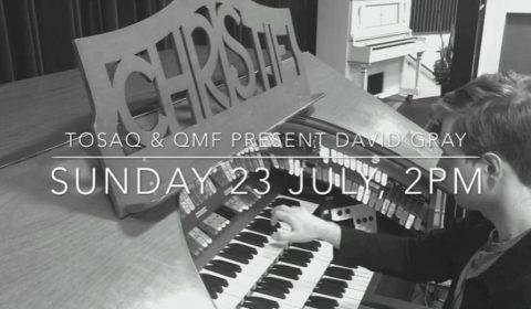 Davd Gray rehearsing at the Chritsie Cinema Pipe Organ 2017